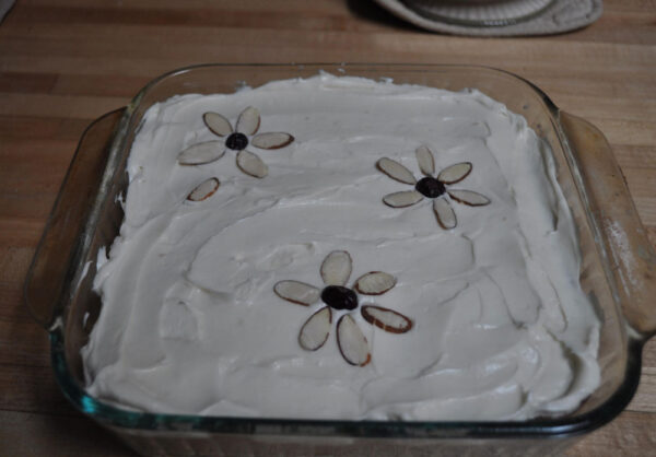Finished Sweet Cake with Frosting