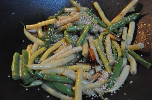 Fresh Sauteed Pole Beans